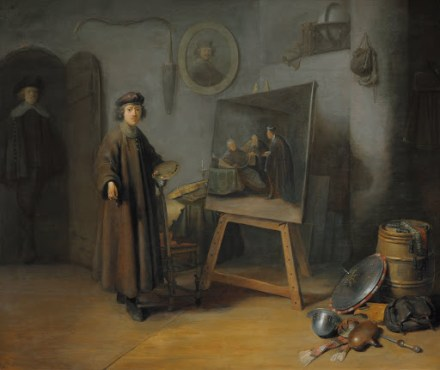 A painter in his studio - Small