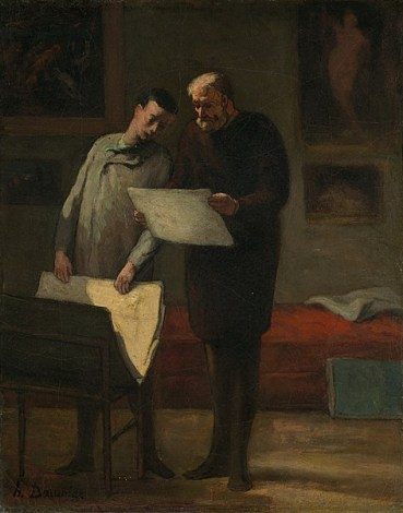 Advice_to_a_Young_Artist_by_Honoré_Daumier_c1865-68