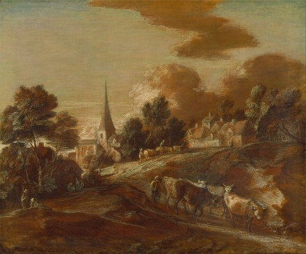 An_Imaginary_Wooded_Village_with_Drovers_and_Cattle_-_Google_Art_Project