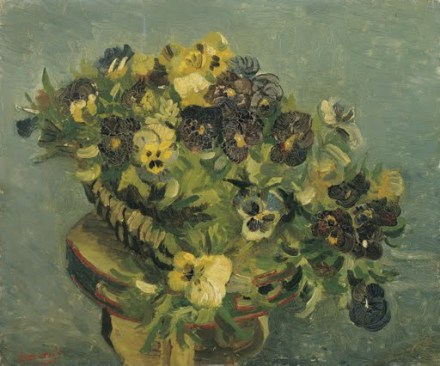 Basket of pansies - Small