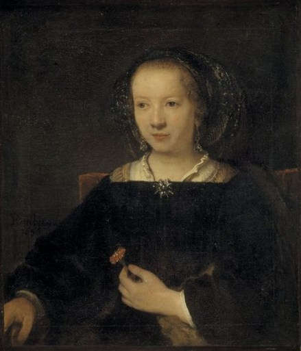 School_of_Rembrandt_-_Young_Woman_with_a_Carnation