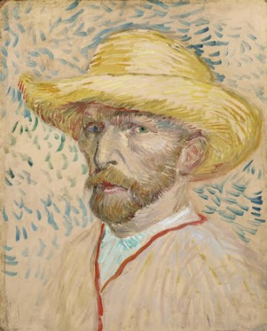 Self-portrait with straw hat - Small