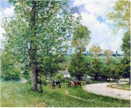 Sisley_-_Cows-In-Pasture,-Louveciennes,-1874