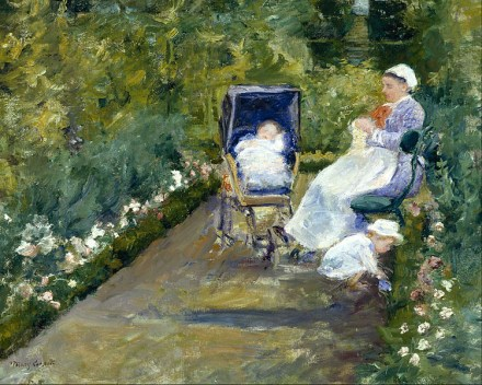 children in a garden